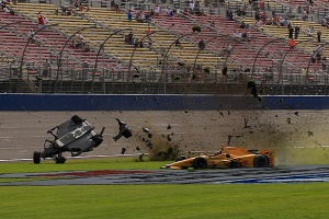 IndyCar oval crash Hunter Reay Conor Daly