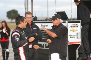 Juan Pablo Montoya with IndyCar legend Rick Mears.