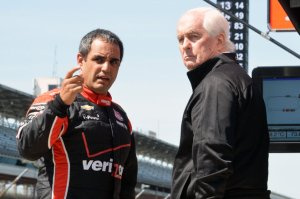 Montoya with team owner Roger Penske.