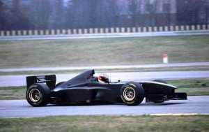 Schumacher testing at Fiorano in the famous black livery.
