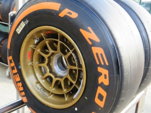 A Pirelli F1 tyre not exploding