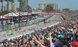 Big attendances at IndyCar street races are common