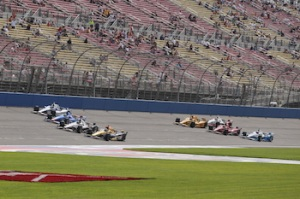 Small crowds at IndyCar oval race