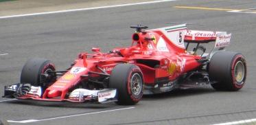 Ferrari F1 car driver seat vacant