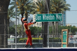 Helio Castroneves Spiderman Dan Wheldon IndyCar