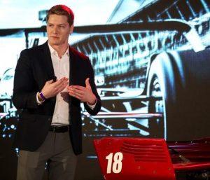 Josef Newgarden 2018 IndyCar launch Skibinski