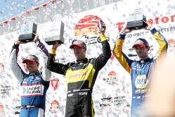 IndyCar St Petersburg podium Graham Rahal Seb Bourdai Alex Rossi
