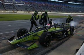 Charlie Kimball Texas IndyCar pitstop