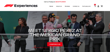 F1 Experiences website