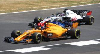Alonso Grosjean F1 2018 Silverstone