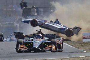 Portland IndyCar crash Andretti Power Dixon