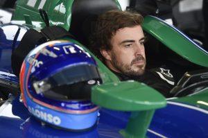 Fernando Alonso IndyCar road course test Barber September 2018
