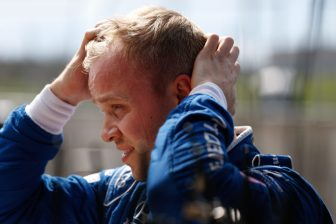 Felix Rosenqvist on pit land during IndyCar Spring Training at COTA 2019