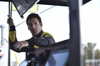 Simon Pagenaud in the pits during IndyCar spring training at COTA.