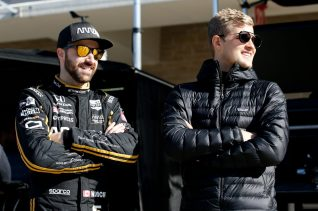 Marcus Ericsson James Hinchcliffe INdyCar Spring Training at COTA