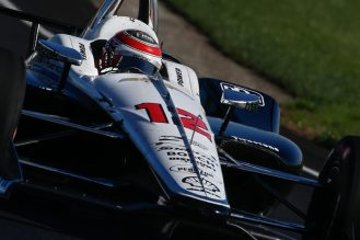 Will Power Team Penske IndyCar aero kit testing Indianapolis Motor Speedway 2018