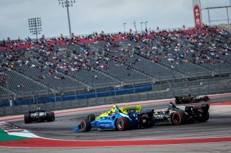 Felix Rosenqvist James Hinchcliffe crash IndyCar Classic 2019