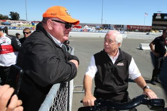 Chip Ganassi and Roger Penske chat at the Indy Grand Prix of Sonoma 2019=8