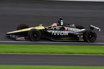 James Hinchcliffe during practice for the 2019 Indy 500