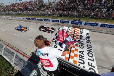 Graham Rahal beats Scott Dixon to the line at Long Beach 2019 IndyCar